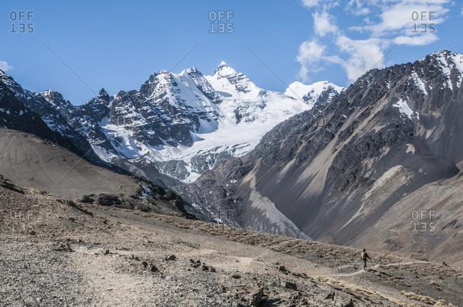 Landscape of Cordillera Real mountain range, La Paz, Bolivia