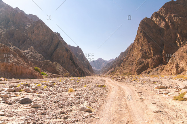 View of road between mountains during daytime, St Catherine, South of Sinai, Egypt