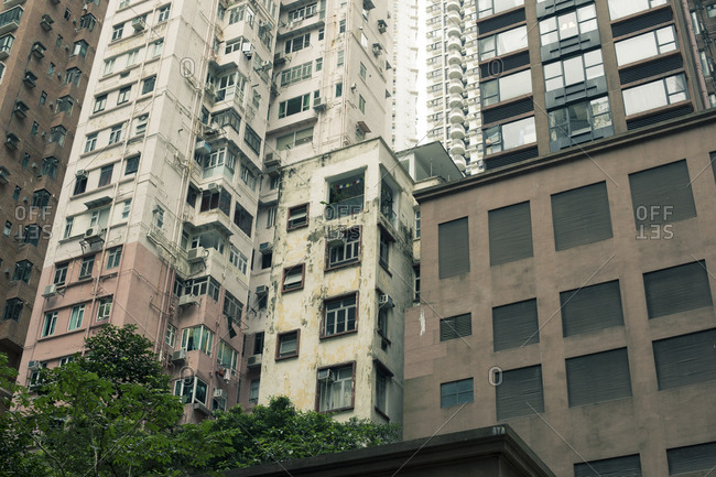 Aging high rises in Hong Kong