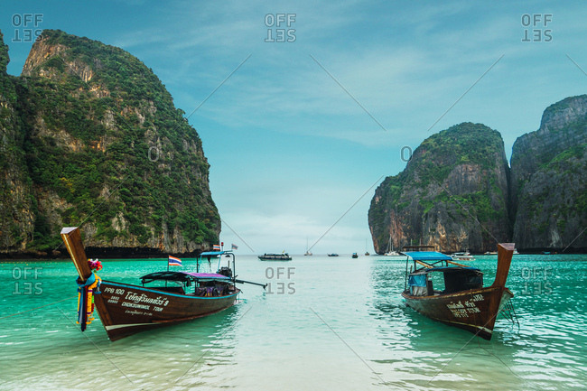 January 31, 2018: Maya Bay in Koh Phi Phi, Thailand