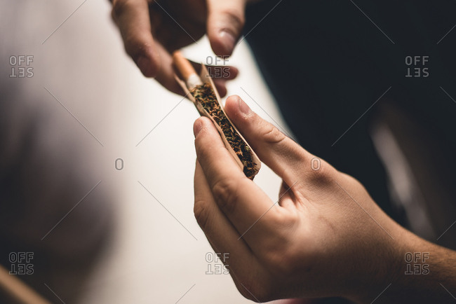 Person making joint