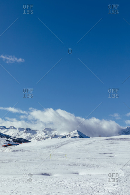 Snowy landscape of Baqueira Beret, Catalonia, Spain