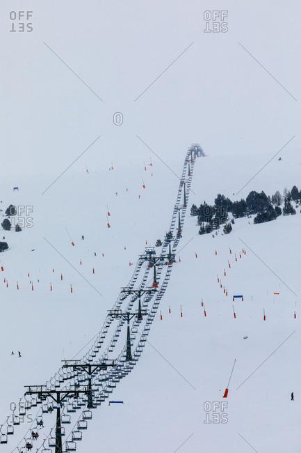 Ski slopes, Baqueira Beret, Catalonia, Spain