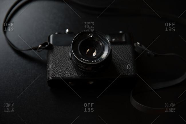 Vintage Camera on black background