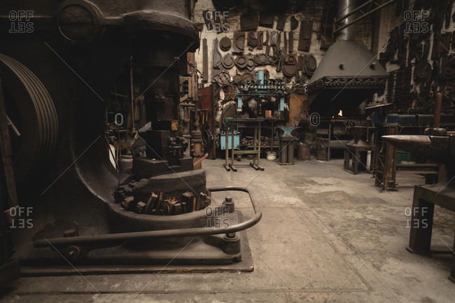 Various machine and tools in workshop