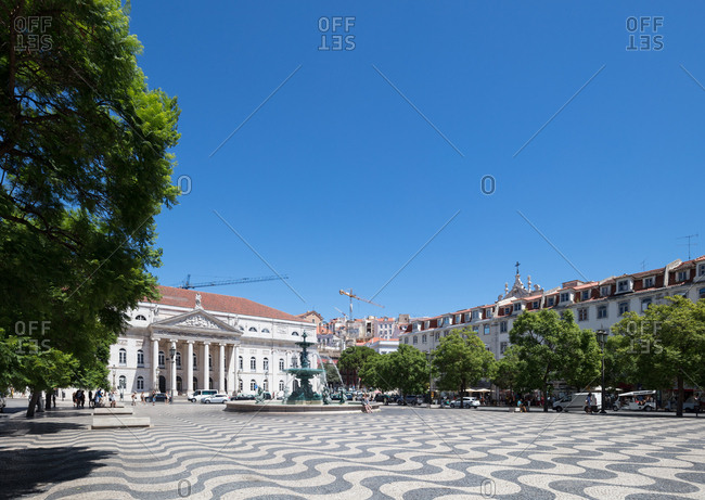 Lisbon, Portugal - August 3, 2017: Rossio Square