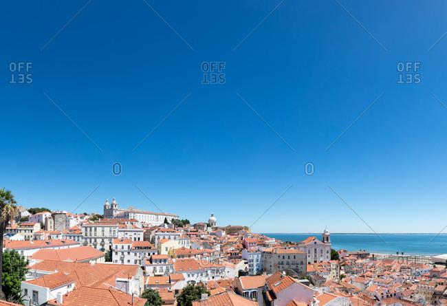 Lisbon, Portugal - August 3, 2017: Cityscape near Lisbon Cruise Terminal