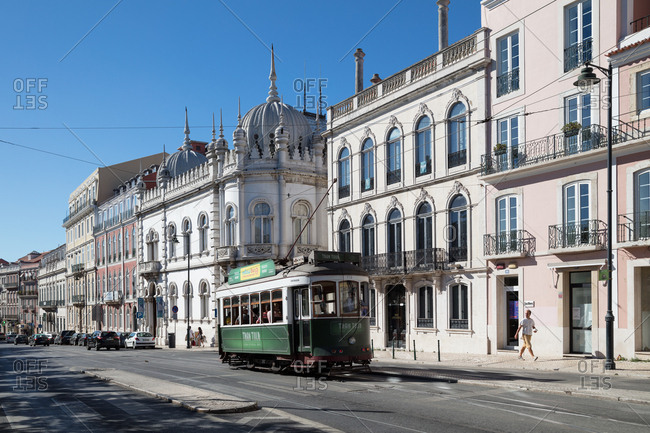 Lisbon, Portugal - August 3, 2017: A vintage trolley