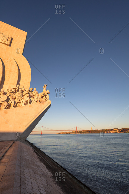 Lisbon, Portugal - August 3, 2017: Monument to the Discoveries on the Tagus River