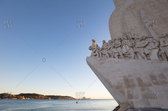 Lisbon, Portugal - August 3, 2017: Monument to the Discoveries overlooks the Tagus River