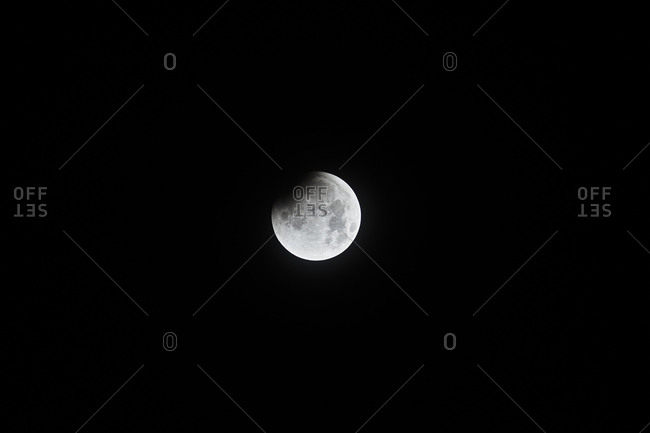 Penumbra visible on moon during full lunar eclipse