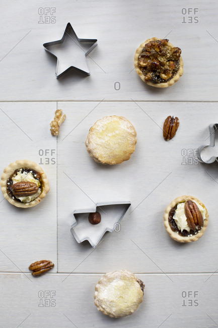 Homemade mini pies and Christmas cookie cutters