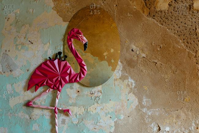 Origami Flamingo Stock Photos Offset