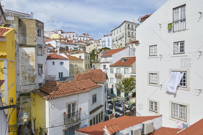 Lisbon, Portugal - September 23, 2014: Buildings in Lisbon, Portugal