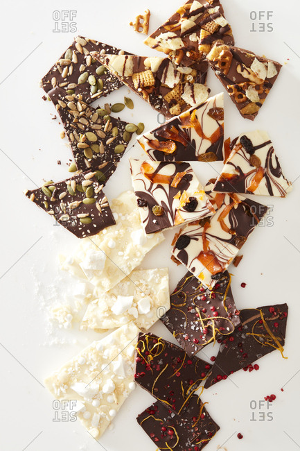 Chocolate bark varieties