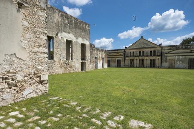 Yaxcopoil, Yucatan, Mexico - October 13, 2017: Hacienda Yaxcopoil, a museum in the state of Yucatan in Mexico