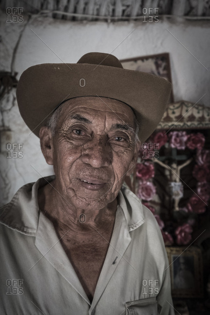 Yucatan, Mexico - October 13, 2017: Portrait of a Mayan man in the state of Yucatan in Mexico