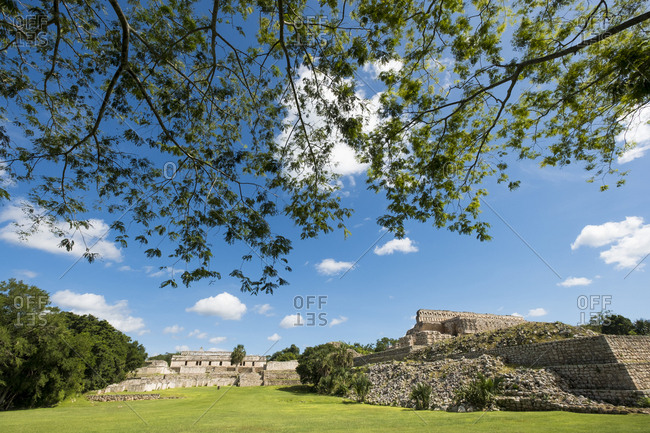 Kabah, Yucatan, Mexico - October 13, 2017: Mayan archaeological site of Kabah on the Puuc route in the state of Yucatan in Mexico