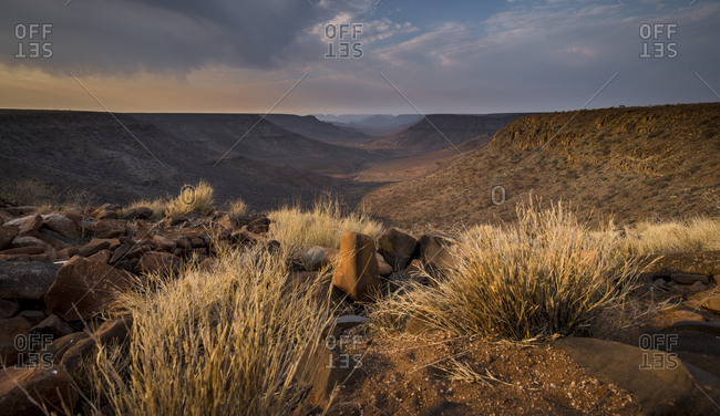 The Grootberg Plateau at sunset in Namibia