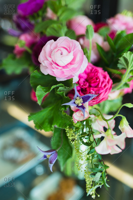 Close up of colorful bouquet of flowers