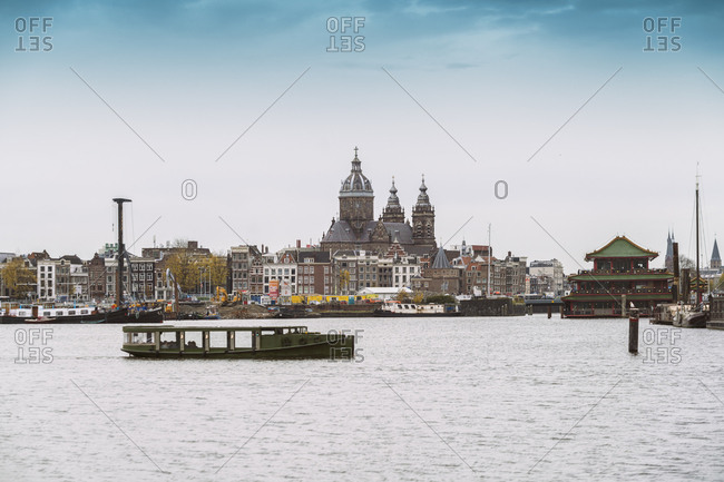 Amsterdam, Netherlands - November 21, 2016: Oosterdok- St. Nicholas' Church