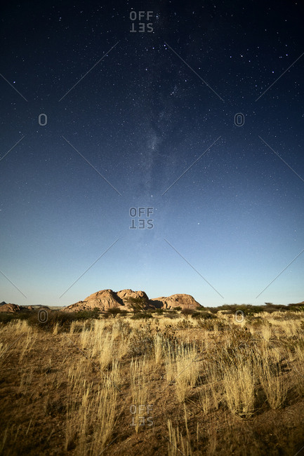 Africa- Namibia- Spitzkoppe and starry sky