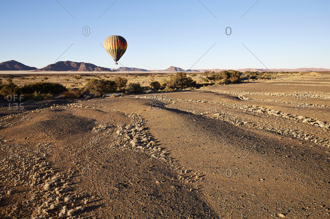 Africa- Namibia- Namib-Naukluft National Park- Sossusvlei- Kulala Wilderness Reserve- air balloon