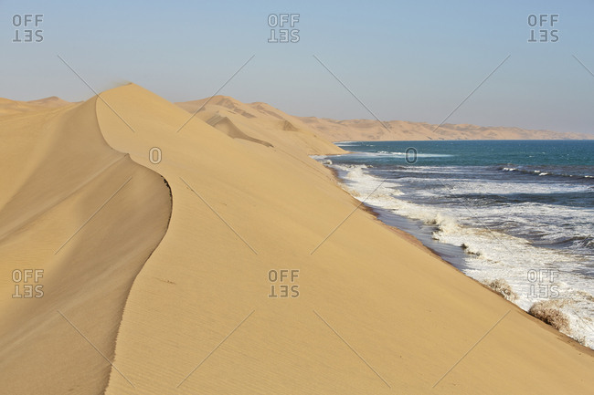 Africa- Namibia- Namib-Naukluft National Park- Namib desert- desert dunes and atlantic coast