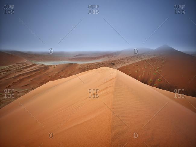 Africa- Namibia- Namib-Naukluft National Park- Namib desert- desert dunes and fog