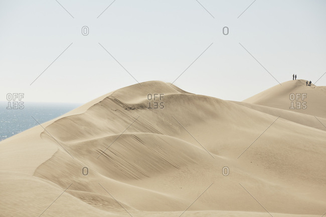 Africa- Namibia- Namib-Naukluft National Park- Namib desert- desert dunes and atlantic