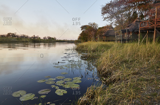 Africa- Namibia- Bwabwata National Park- Kwandow river- Stilt Huts- Kwando Lodge