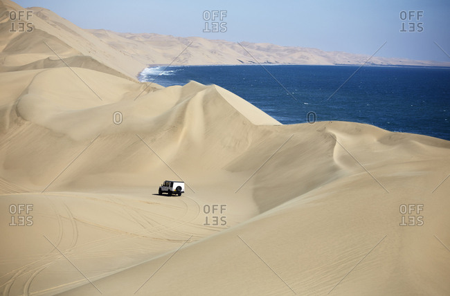 Africa- Namibia- Namib-Naukluft National Park- Namib desert- Atlantic and desert dunes- off-road vehicle