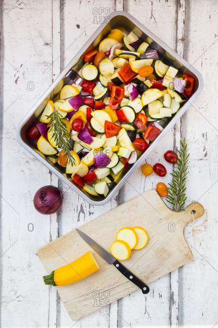 Mediterranean oven vegetables