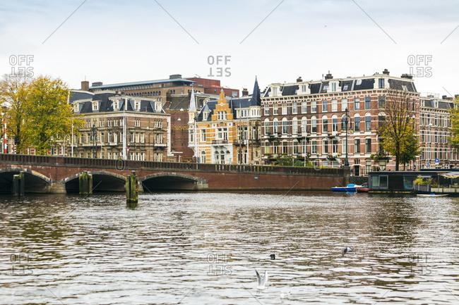 Netherlands- Holland- Amsterdam- Nieuwe Amstelbrug- moveable bridge