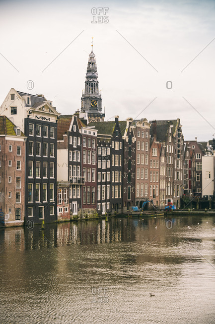 Netherlands- Holland- Amsterdam- Canal and houses