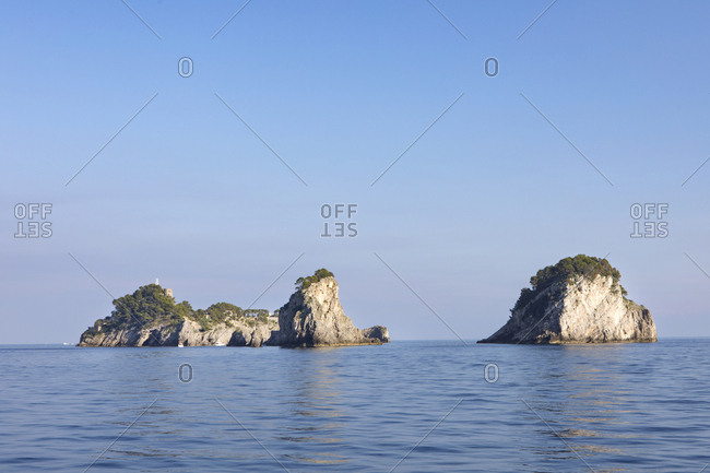 Small rocky islands off the Italian coast