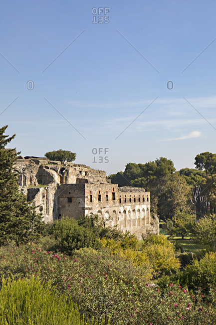 Ruins of ancient building at Pompeii