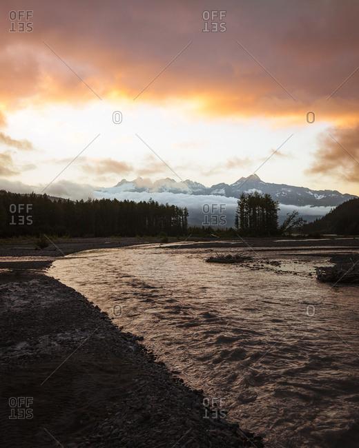 First light of the day in Seward Alaska.