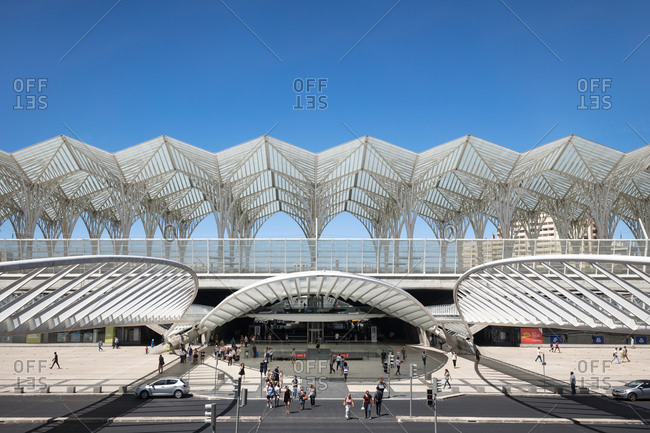 Lisbon, Portugal - August 4, 2017: Lisbon Orient railway station