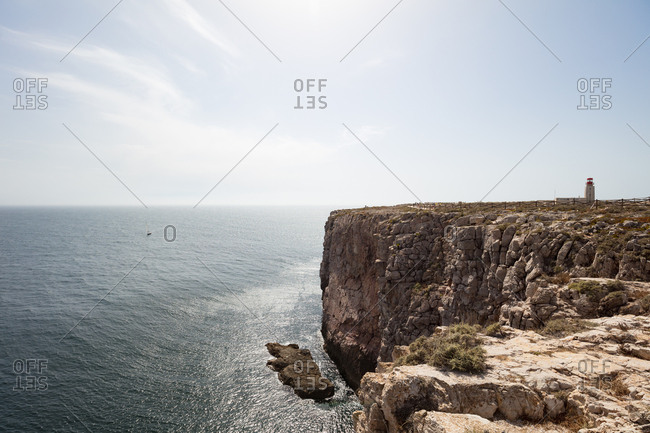 View of the Cape St. Vincent Lighthouse in Portugal