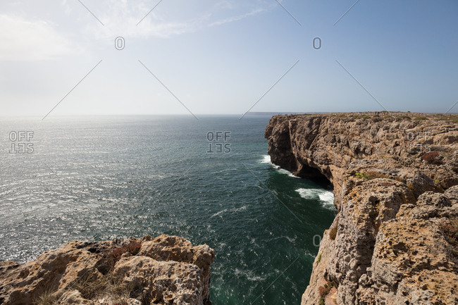 Cape St. Vincent coastline in Portugal