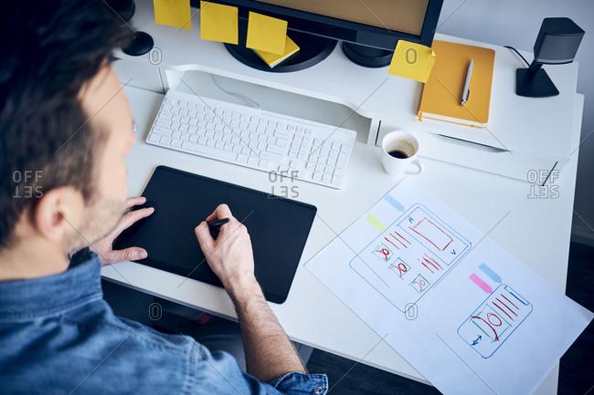 Web Designer Developing Responsive Website Layout Stock Photo Offset