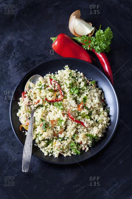 Plate of Couscous salad