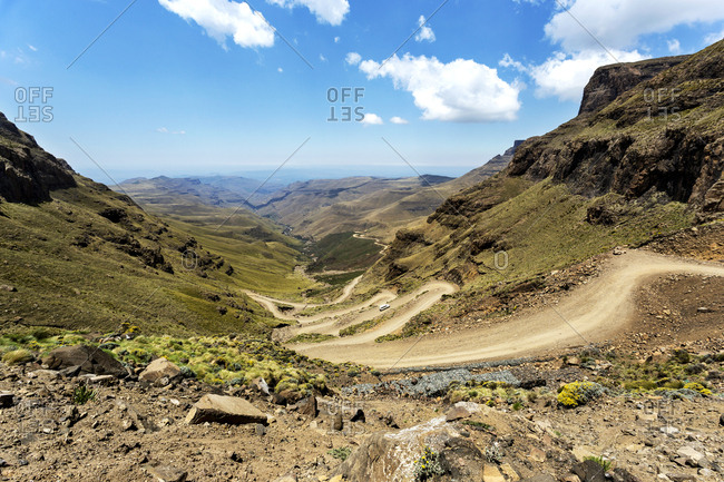 Africa- South Africa- KwaZulu-Natal- Underberg- Sani Pass