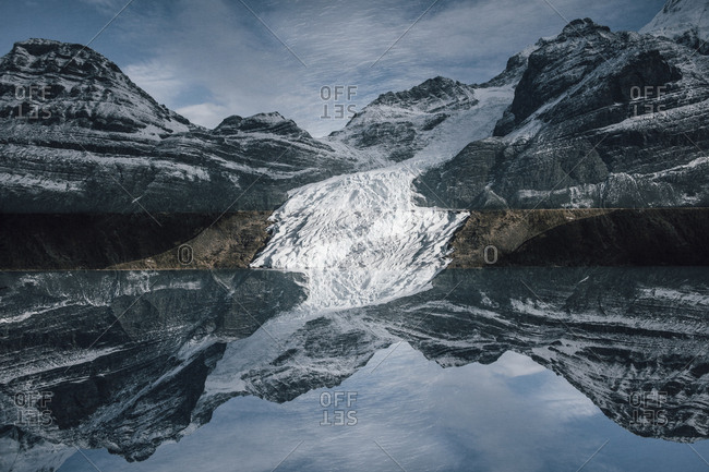Canada- British Columbia- Rocky Mountains- Mount Robson Provincial Park- Fraser-Fort George H- Berg Lake- Glacier- multiple exposure