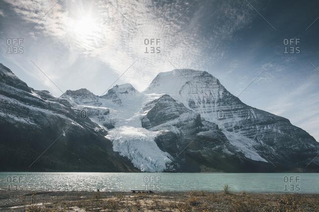 Canada- British Columbia- Rocky Mountains- Mount Robson Provincial Park- Fraser-Fort George H- Berg Lake- Berg Glacier- Mist Glacier