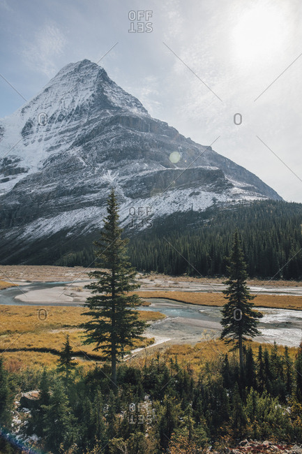 Canada- British Columbia- Rocky Mountains- Mount Robson Provincial Park- Fraser-Fort George H- Mist Glacier- Robson River
