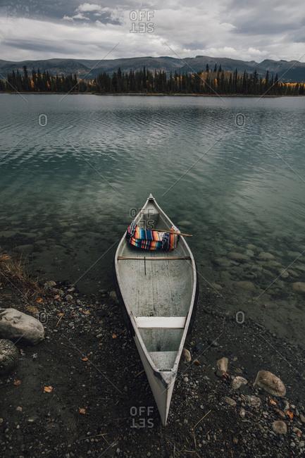 Canada- British Columbia- Boya Lake- Boya Lake Provincial Park- kanu