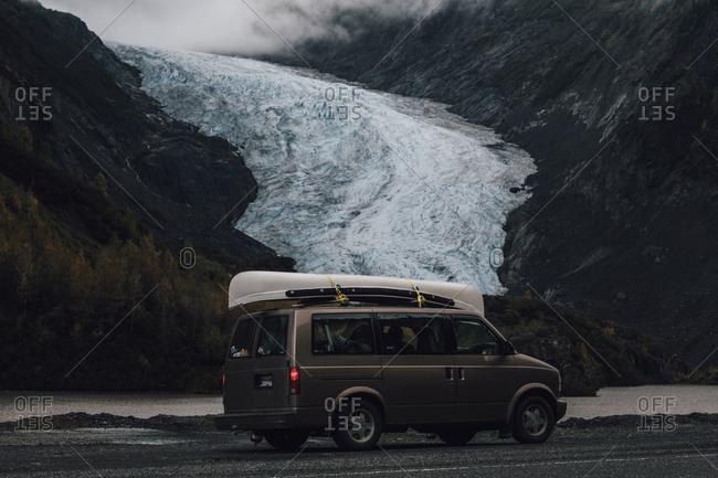 Canada- British Columbia- Kitimat-Stikine A- Glacier Highway- Bear Glacier Provincial Park- Bear Glacier- van