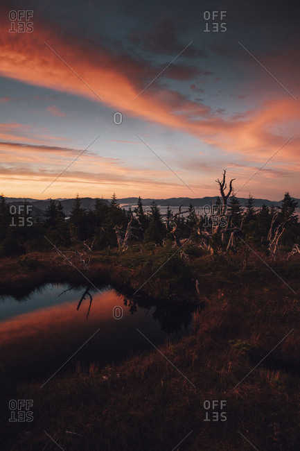 Canada- British Columbia- Skeena-Queen Charlotte A- Kaien Island- Prince Rupert- Mount Hays in the evening
